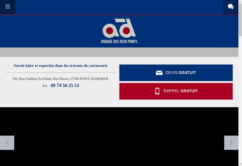 Capture d'écran du site de SARL Garage des Deux Ponts