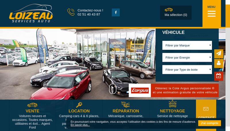 Capture d'écran du site de Garage Loizeau