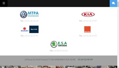 Capture d'écran du site de Mecanique Tolerie Peinture Autos