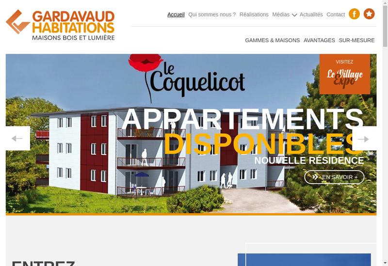 Capture d'écran du site de Gardavaud Habitations