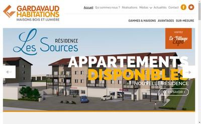 Site internet de Gardavaud Habitations