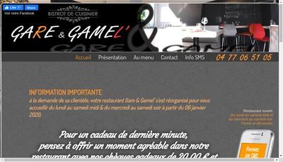 Site internet de Gare & Gamel