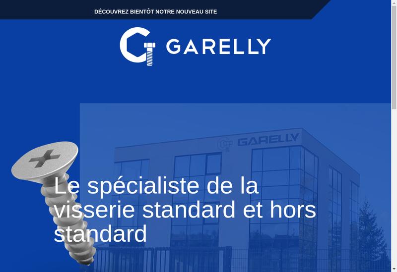 Capture d'écran du site de Garelly