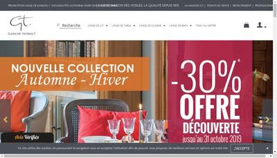 Site internet de Societe de Tissage de Gerardmer Garnier Thiebaut