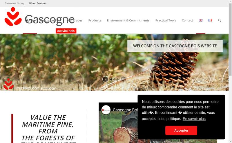 Capture d'écran du site de SA Palfrance