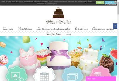 Site internet de Gateau Creation