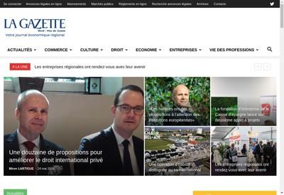 Site internet de La Gazette Nord Pas-de-Calais