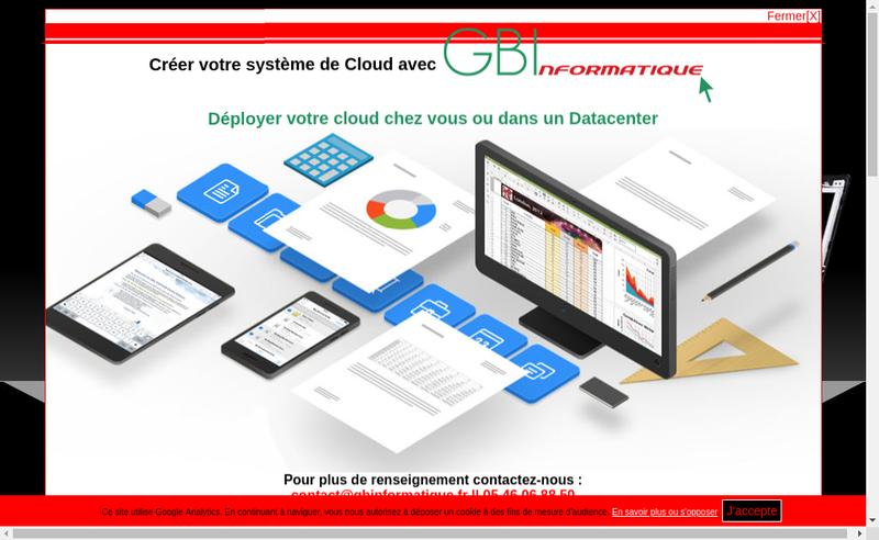 Capture d'écran du site de Gb Informatique