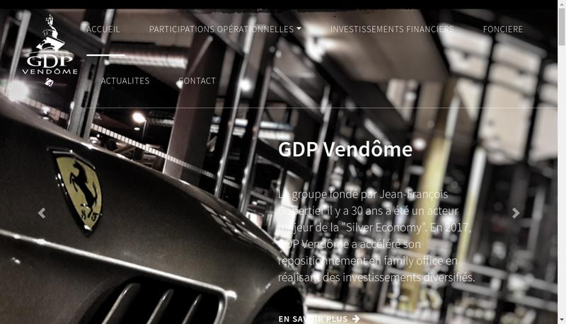 Capture d'écran du site de Gdp Vendome Immobilier