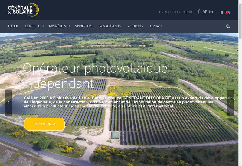 Capture d'écran du site de Gdsolaire