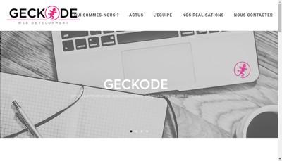 Site internet de Geckode