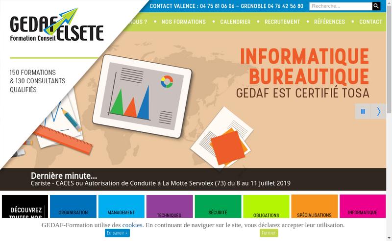 Capture d'écran du site de Groupement Entreprises Dediees a la Formation