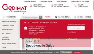 Site internet de Vallier Gedimat
