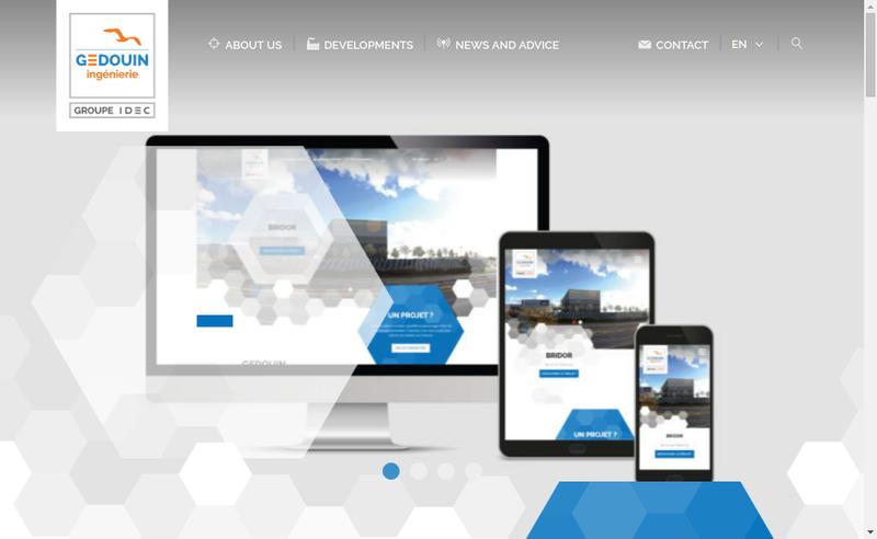 Capture d'écran du site de Gedouin Ingenierie