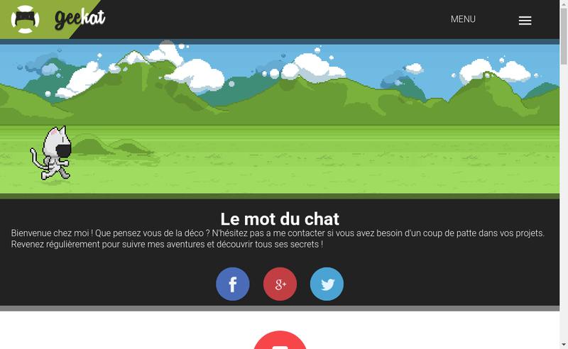 Capture d'écran du site de Geekat