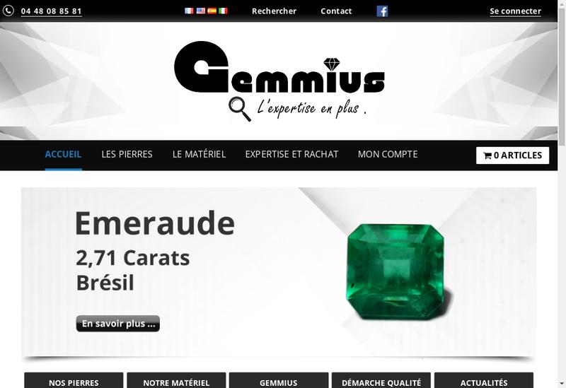 Capture d'écran du site de Gemmius