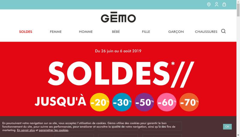 Capture d'écran du site de Gemo-Tandem-L'Hyper aux Chaussures