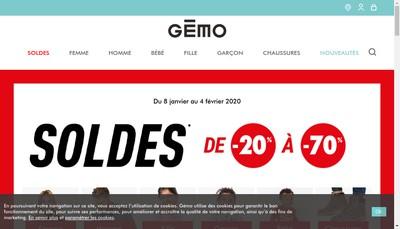 Site internet de Gemo-Tandem-l'Hyper aux Chaussures Ve