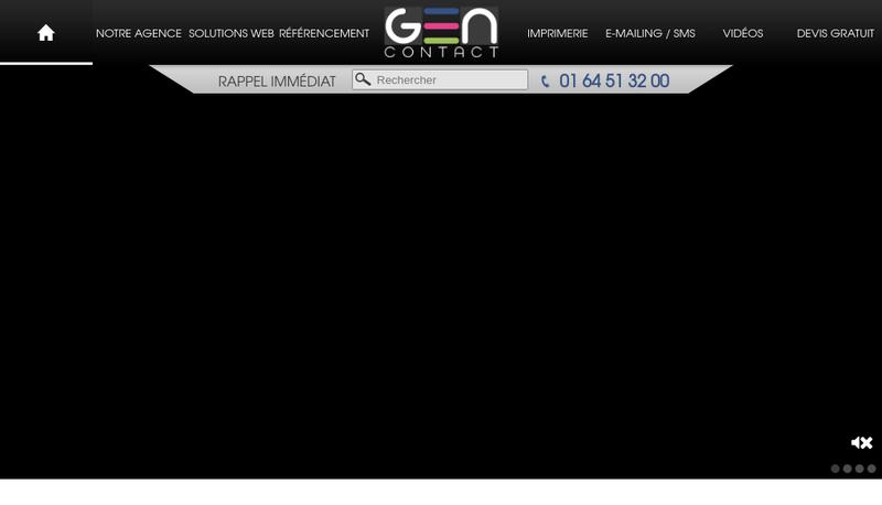 Capture d'écran du site de Gencontact