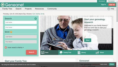 Site internet de Geneanet