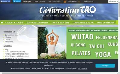 Site internet de Editions du Tao Biotao