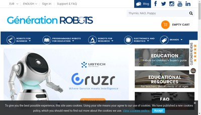 Site internet de Generation Robots