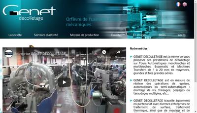 Site internet de Decolletage Genet