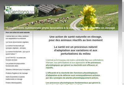 Site internet de Gentiana Phytolabo