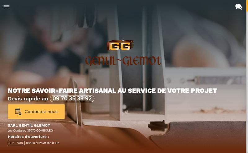 Capture d'écran du site de Gentil Glemot