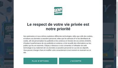 Site internet de Geny Infos