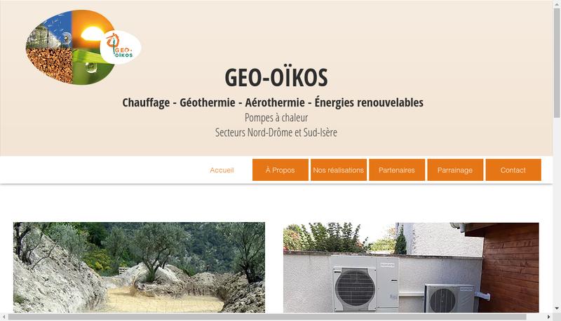Capture d'écran du site de Geo-Oikos