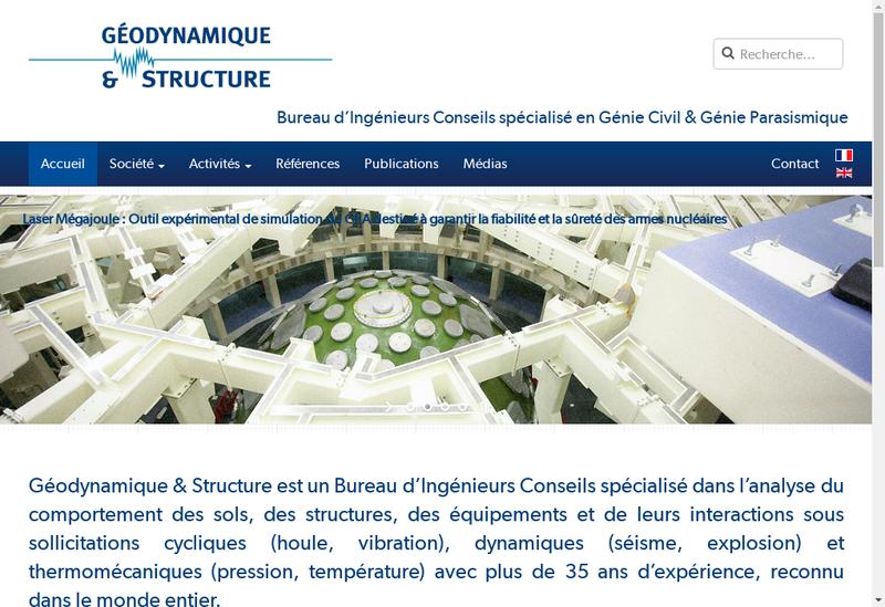 Capture d'écran du site de Geodynamique et Structure