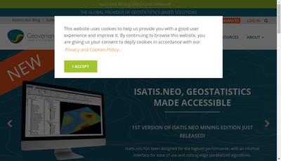 Site internet de Geovariances