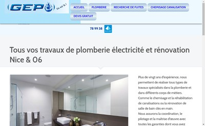 Site internet de Generale d'Electricite et de Plomberie
