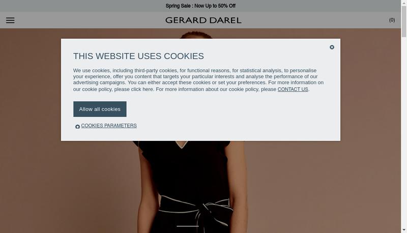 Capture d'écran du site de Gerard Darel & Pablo