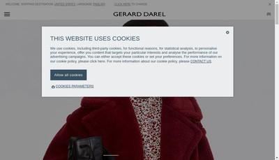 Site internet de Gerard Darel & Pablo