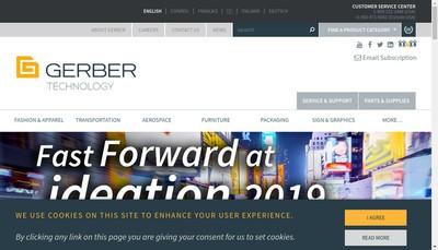 Site internet de Gerber Technology