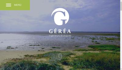 Capture d'écran du site de Gerea