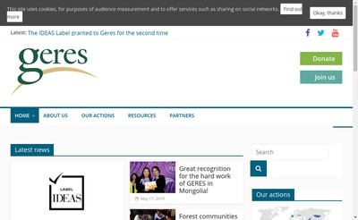 Site internet de Geres Groupes Energies Renouvelables