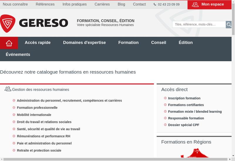 Capture d'écran du site de Gereso Conseil-l'Avantage Scope-Ge