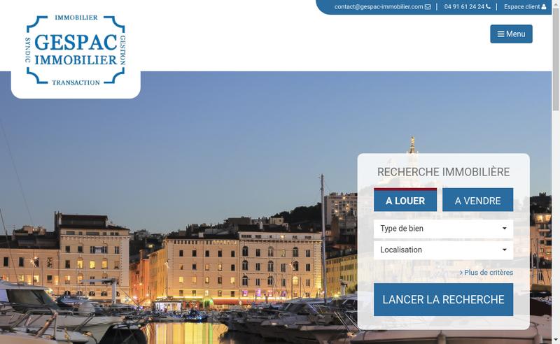 Capture d'écran du site de Gespac Immobilier