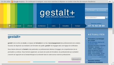 Site internet de Gestalt Plus