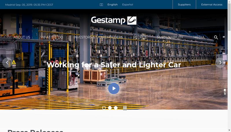 Capture d'écran du site de Gestamp Noury