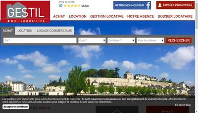 Site internet de Gestil Transaction