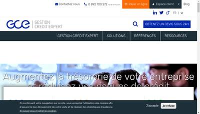 Site internet de France-Creances Inforcredit Gorrias Consultants