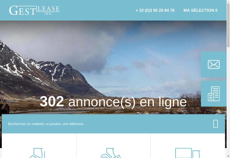 Capture d'écran du site de Gest Lease Ing