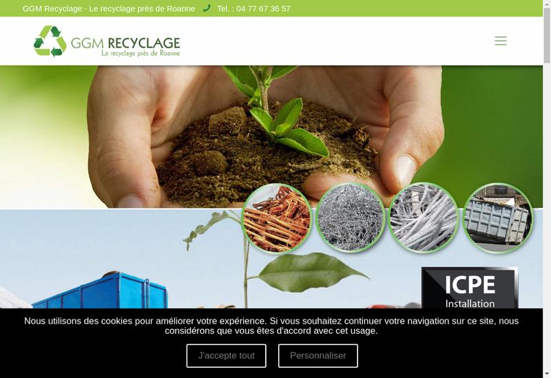 Capture d'écran du site de GGM Recyclage