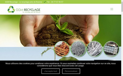 Site internet de GGM Recyclage