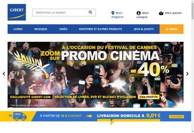 Site internet de Gibert Joseph Paris