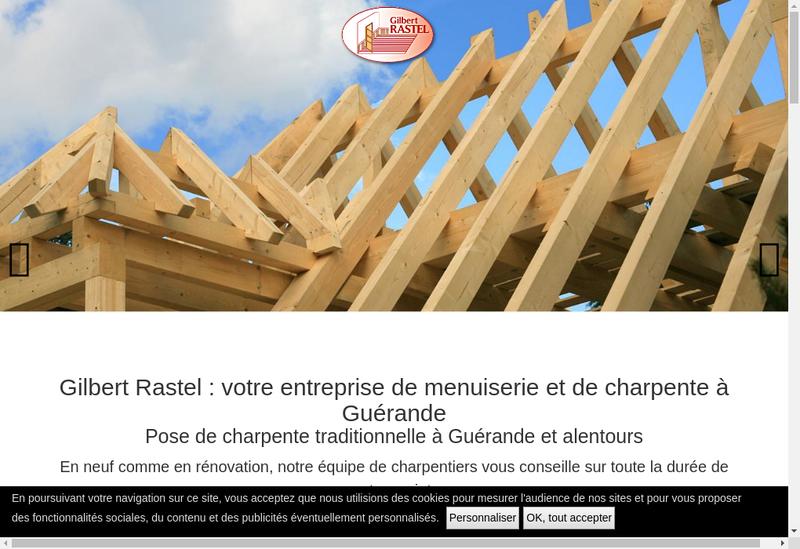 Capture d'écran du site de SARL Gilbert Rastel